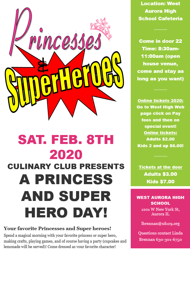 Princesses and Super Heroes 2020 Flyer